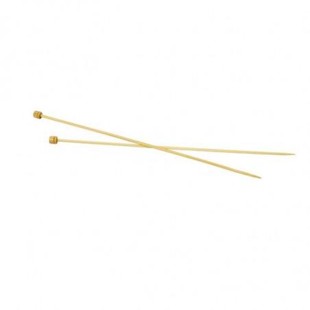Bamboe breinaalden 40 cm