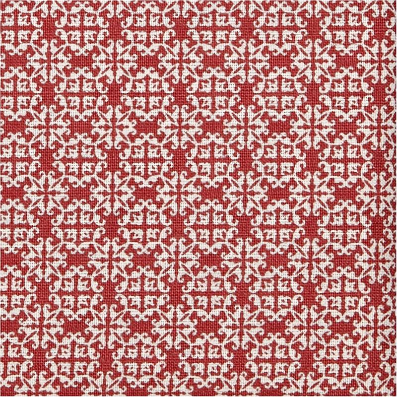 Ecokatoen rood met wit motief