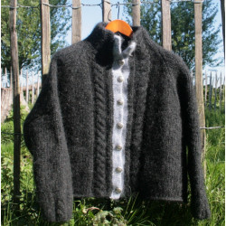 Dik kabelvest van IJslandse wol