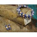 Armband van half edelsteen en keramiek