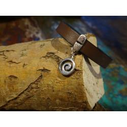 Armband van faux leer met zilver