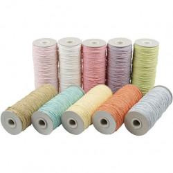 Papiergaren set 10 pastelkleuren